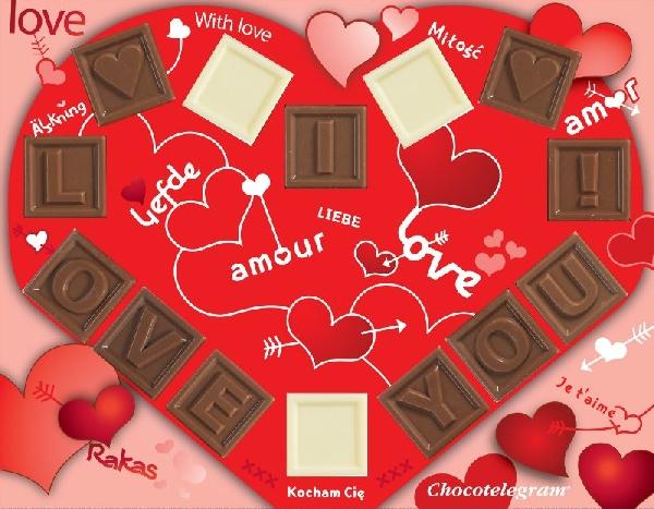 Chocotelegram® Valentijn Hart